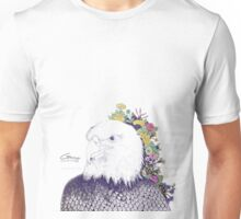 Illustrated Eagle (Flower) Unisex T-Shirt