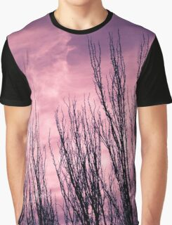 Landscape in purple Graphic T-Shirt