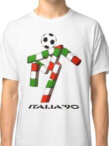 Italia 90 World Cup Ciao Mascotte and write (B) Classic T-Shirt