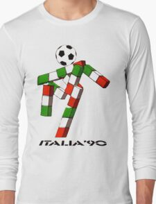 Italia 90 World Cup Ciao Mascotte and write (B) Long Sleeve T-Shirt
