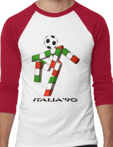 Italia 90 World Cup Ciao Mascotte and write (B) Men's Baseball ¾ T-Shirt