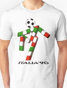 Italia 90 World Cup Ciao Mascotte and write (B) Unisex T-Shirt