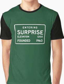 Entering Surprise, Road Sign, AZ, USA Graphic T-Shirt