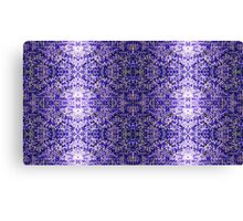 Blue Knitting Canvas Print