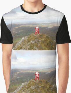 Santa on Errigal Mountain Donegal Ireland Graphic T-Shirt