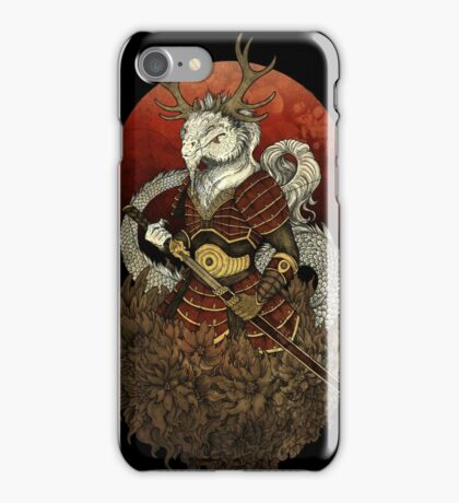 Dragon Samurai - Colour iPhone Case/Skin