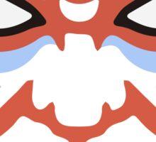 Japanese Kabuki Mask Graphic Design Novelty Sticker