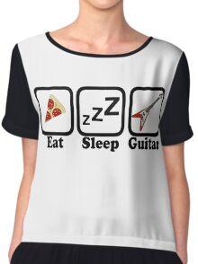 Eat Sleep Guitar Chiffon Top