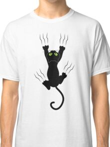 Funny Black Angry Cat T-Shirt I Love Cats Cute Graphic Tee  Classic T-Shirt