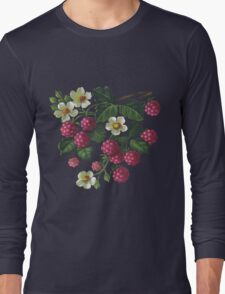 Raspberries - acrylic on canvas Long Sleeve T-Shirt