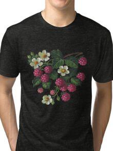 Raspberries - acrylic on canvas Tri-blend T-Shirt