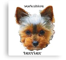 Printing dogs - Yorkshire Terrier Canvas Print