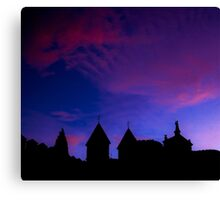 Red and blue sky Canvas Print