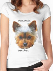 Printing dogs - Yorkshire Terrier Women's Fitted Scoop T-Shirt