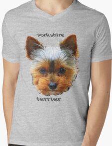 Printing dogs - Yorkshire Terrier Mens V-Neck T-Shirt
