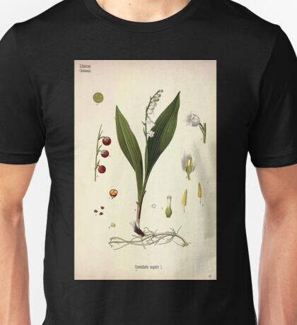 Köhler's Medizinal Pflanzen in naturgetreuen Abbildungen mit kurz erläuterndem Texte  Atlas zur Pharmacopoea 1883 1914 V3 080 Convallaria Majalis Unisex T-Shirt