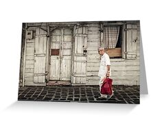 Man in Port Louis, Mauritius Greeting Card