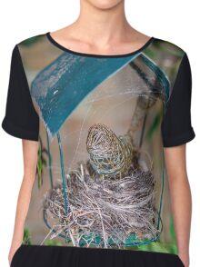 Bird Nest  Chiffon Top