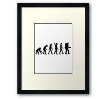 Evolution Astronaut Framed Print