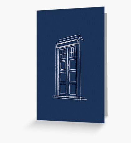 Jump on the TARDIS Greeting Card