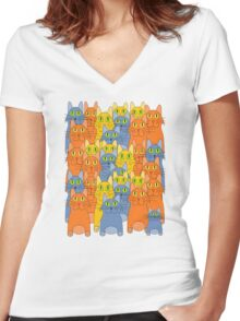 Thirty-One Kitty Cats Women's Fitted V-Neck T-Shirt