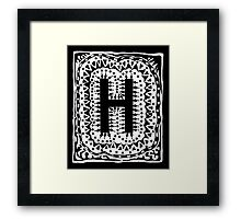 Initial H Black and White Framed Print