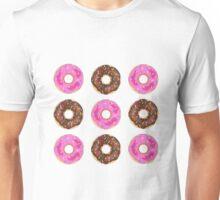 Chocolate & Strawberry Donuts Unisex T-Shirt