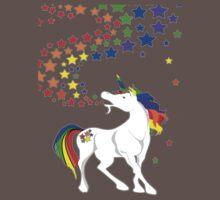 Gay Pride Unicorn Spewing Rainbows & Stars One Piece - Short Sleeve