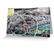 Net, Rubber and Metal Chains Greeting Card
