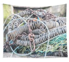 Net, Rubber and Metal Chains Wall Tapestry