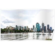 Brisbane City Skyline by Gaye G Poster