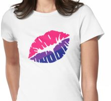 Bisexual flag kiss Womens Fitted T-Shirt