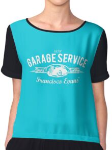 Garage Service Oldtimer by Francisco Evans ™ Chiffon Top