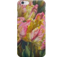 Tulipomania 7 Pink and Yellow Parrots iPhone Case/Skin