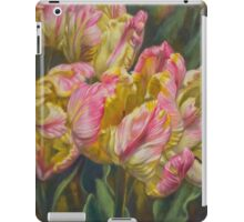Tulipomania 7 Pink and Yellow Parrots iPad Case/Skin