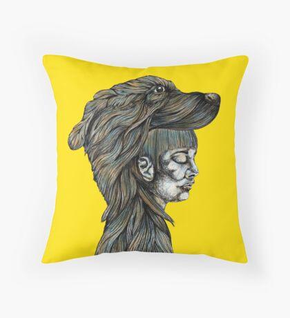 Flicka (Noir) Throw Pillow