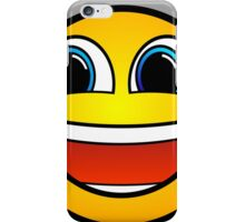 Happy Smile Emoji Smiley Face Be Happy Hipster Geek Funny Sticker iPhone Case/Skin