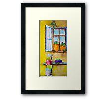 Beside the window pane Framed Print