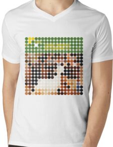 THE BEACH BOYS, PET SOUNDS, BENDAY DOTS Mens V-Neck T-Shirt