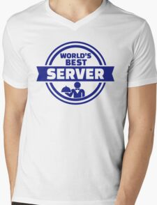 World's best server Mens V-Neck T-Shirt