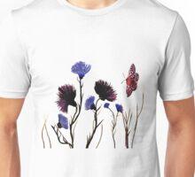 Wild Flower and Butterfly Art Unisex T-Shirt