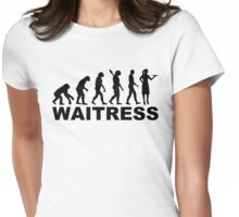 Evolution waitress Womens Fitted T-Shirt