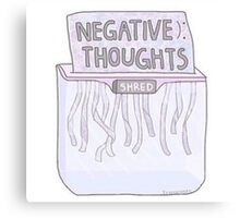 Negative Thought Shredder Canvas Print