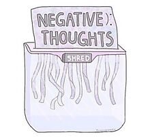 Negative Thought Shredder Photographic Print