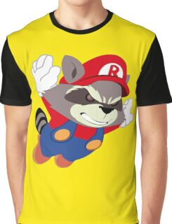 Super Raccoon Suit Graphic T-Shirt