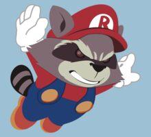 Super Raccoon Suit Baby Tee