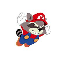 Super Raccoon Suit Photographic Print