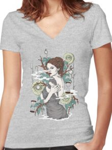 Time Goes By... Women's Fitted V-Neck T-Shirt