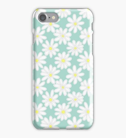 Bright Happy Daisies on Mint iPhone Case/Skin