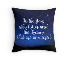 Stars Who Listen Throw Pillow
